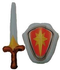 espada inflable y parque infantil escudo - caballero, soldado ...