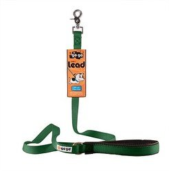 GoGo Pet Products 3/4-Inch Wide Comfy Nylon Dog Leash, 6-Feet Long, Hunter Green