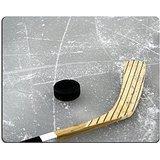 luxlady Gaming Mousepad eine Hockeyschläger und Puck auf dem Eis Bild-ID 1478049