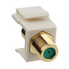 Construct Progold-plated 3ghz F-connector Keystone Insert (Light Almond)