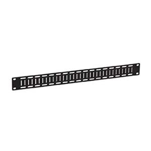 Kendall Howard 1U Flat Cable Lacing Panel