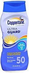 (Coppertone UltraGuard Sunscreen Lotion SPF 50 - 8 oz, Pack of 4)