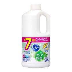 【花王】キュキュット クリア除菌緑茶の香り つめかえ用 1380ml ×10個セット B00XJ3MDOQ