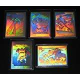 - 1991 Marvel Universe Series II HOLOGRAM Insert Set of 5 Cards NM/M Spider-Man, Hulk