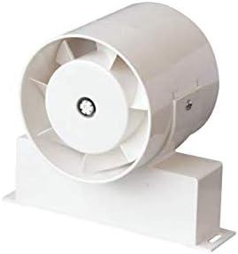 TUBO - Extractor de baño en línea para baño o ducha, flujo axial, temporizador de 100 mm