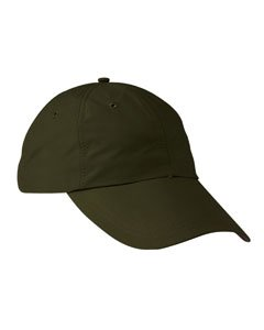 Adams 6-Panel Uv Low-Profile Cap With Elongated Bill (SH101)- Olive,One Size