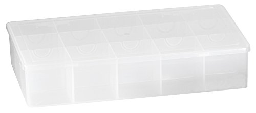 Akro-Mils 96352B Large Utility Box Plastic Storage Case for Small Parts, Clear, 6-Pack
