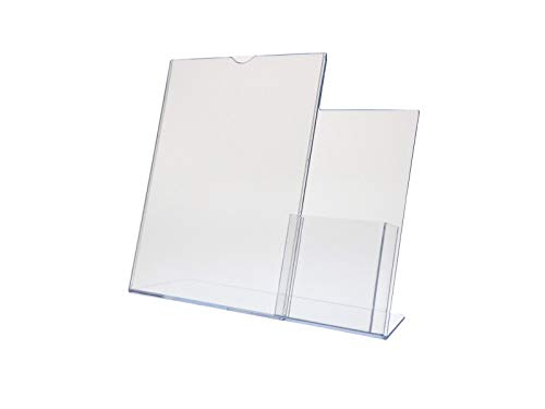 DEFLECTO CORPORATION 599401 Superior Image Sign Holder with Pocket, 8-1/2w x 11h, Clear