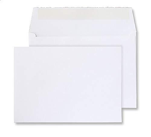 Blake Creative Senses DE343 - Sobres (50 unidades, 162 x 229 mm, 190 g/m², hechos a mano, con textura, color blanco