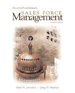 Sales Force Management - 7th Edition - Churchill/Ford/Walker ISBN 0072466480 ebook