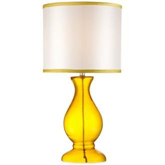 Contemporary Yellow Glass Table Lamp