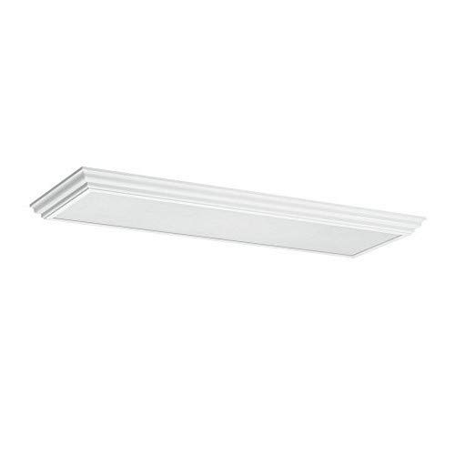 Sea Gull Lighting 59361LE-15  Decorative Drop Lens Fluorescent Four-Light Ceiling Flush Mount Hanging Modern Light Fixture, White - Fluorescent White 15 Chassis