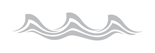 (Wave Style 3 - Coastal Design Series - Etched Decal - For Shower Doors, Glass Doors and Windows - 6