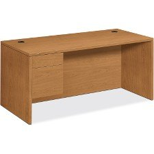 HON 10500 Series Left Pedestal - Desk Oak Hon Pedestal Company