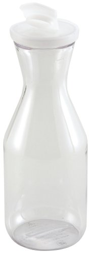 Winco Polycarbonate Decanter with Lid, 1-Liter