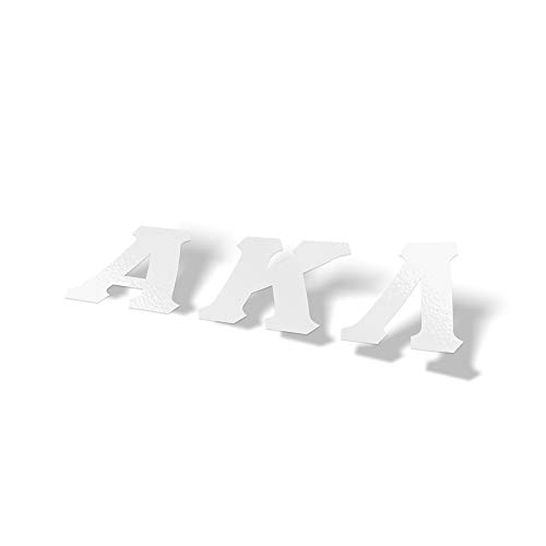 Alpha Kappa Lambda Fraternity White Letter Sticker Decal Greek 2 Inches Tall for Window Laptop Computer Car ()