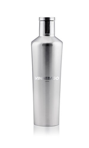 Corkcicle Vinnebago Insulated Stainless Steel Bottle/Thermos, 750ml, Silver by Corkcicle