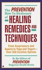 The Prevention How-To Dictionary of Healing Remedies and Techniques, Prevention Magazine Health Book Staff, 0875961142
