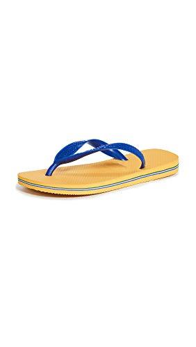 Havaianas Women's Brazil Flip Flop Sandal,Banana Yellow, 39/40 BR(9-10 M US Women's / 7-8 M US Men's)