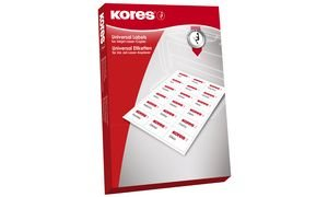 Kores L19038.253 19.2 x 3.8 cm A4 Universal Labels - Green (Pack of 25 Sheets)