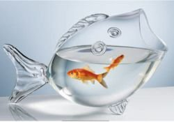 Home Essentials 786460172302 CLEAR FISH BOWL - CLEAR FISH SHAPED (Fish Shaped Bowl)