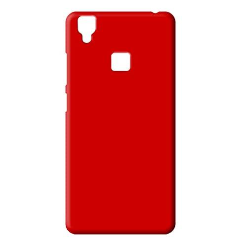 Coverage Plastic Back Cover for Vivo V3   red