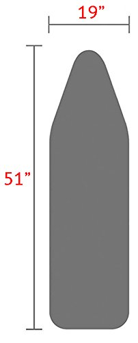 TIVIT 19 X 51 Inch Ironing Board Cover & Pad - AlumiTek Heat-Reflective Coating & Scorch image