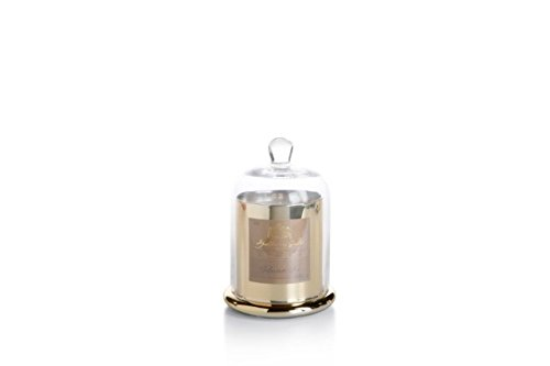 (Zodax Apothecary Guild Scented Candle Jar with Glass Dome - Gold / Medium, Siberian Fir)