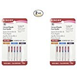 #5: Singer 10-Pack Regular Point Machine Needles Assorted, 4 Size 80/11, 4 Size 90/14 and 2 Size 100/16 (2)