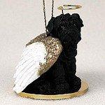 (Shar Pei Black Pet Angel Ornament)