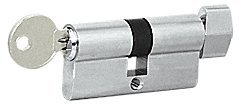 CRL Brushed Stainless Keyed Alike Cylinder Lock with Thumbturn by C.R. Laurence (Image #1)