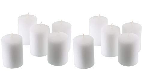 D'light Online 15 Hour Unscented White Emergency and Events Bulk Votive Candles for Wedding Votives, Luminary Candles, Restaurants, Churches, Bars, Parties, Spa and Decorations (White, Set of 36)