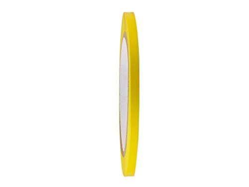 T.R.U. CVT-536 Yellow Vinyl Pinstriping Dance Floor Tape: 1/4 in. wide x 36 yds. Several Colors