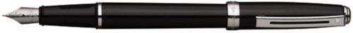 Sheaffer Prelude, Black Lacquer, Nickel Plate Trim, Fountain Pen: Medium Nib (E037353) by Sheaffer