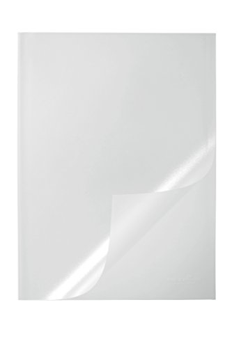 Durable Report Covers PVC Capacity 100 sheets A3 Folds to A4, Pack of 50 (Clear)