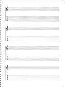 Music Sales Passantino Guitar Manuscript Paper Spiral pad #159 - 4 Staves, 64 Pgs, - Music Passantino Papers