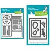Lawn Fawn Center Picture Window Card and Window Card Add-on (LF1971, LF1972), Bundle of Two Items by Lawn Fawn