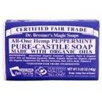 Dr. Bronner s Organic Castile Bar Soap, Peppermint, 5 Ounce