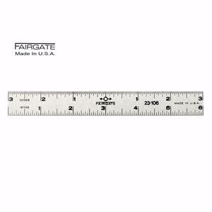 Fairgate 6 Center Finding Ruler, 3/4 Wide, 23-106 Made In USA 3/4 Wide