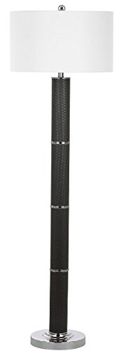Safavieh Lighting Collection Marcello Faux Woven Leather Dark Grey 60.5-inch Floor Lamp