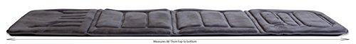 046854177055 - Relaxzen 60-2907P04 10-Motor Massage Standard Mat with Heat, Charcoal Gray carousel main 4
