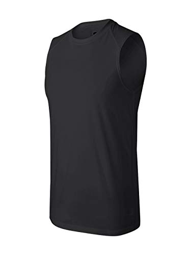 Badger Sportswear B-Dry Sleeveless Athletic Performance T-Shirt, XX-Large, Black