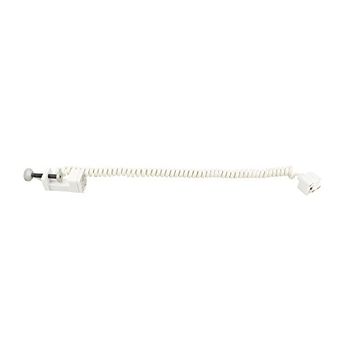 Juno Track Lighting T132WH Line Voltage Coil Cord Clamp-On with Super Adapter, White