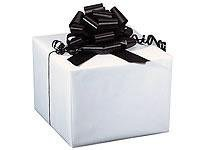 Solid White Gloss Gift Wrap Retail Cutter Box Roll 24