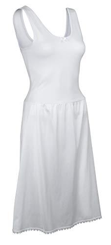 (TruFit Women's Cotton Full Length Dress Slip, 42-22 Length, White,42-22 Length,White)