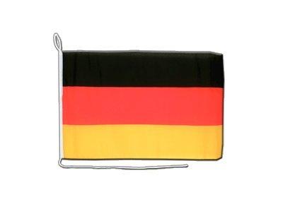 Deutschland Flagge, deutsche Bootsflagge - 30 x 40 cm, MaxFlags®