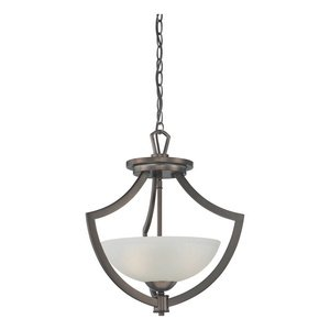 Thomas Lighting TG0001715 Charles - Two Light Pendant, Oiled Bronze Finish with Etched Glass