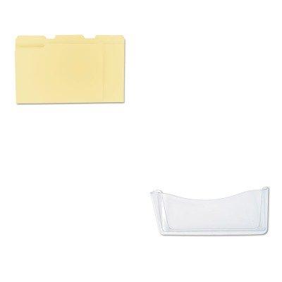 KITRUB65980ROSUNV12113 - Value Kit - Rubbermaid Unbreakable Single Pocket Wall File (RUB65980ROS) and Universal File Folders (UNV12113)