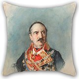 Alphadecor Cushion Covers Of Oil Painting José María Casado Del Alisal - General Espartero,for Divan,dinning Room,home Theater,her,bf,outdoor 20 X 20 Inches / 50 By 50 Cm(twice Sides) (Arrow Season 3 Episode 5)