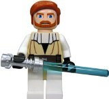 LEGO Star Wars Minifigure - Obi-Wan Kenobi with Lightaber (Clone Wars)